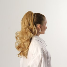 Хвост накладной, волнистый волос, на крабе, 40 см, 150 гр, цвет блонд