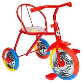 """Велосипед трёхколёсный Micio TR-313, колёса 10""""/8"""", цвет красный"""