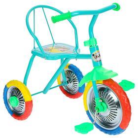 """Велосипед трёхколёсный Micio TR-313, колёса 10""""/8"""", цвет голубой"""