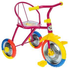 """Велосипед трёхколёсный Micio TR-313, колёса 10""""/8"""", цвет розовый"""