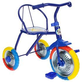 """Велосипед трёхколёсный Micio TR-313, колёса 10""""/8"""", цвет синий"""