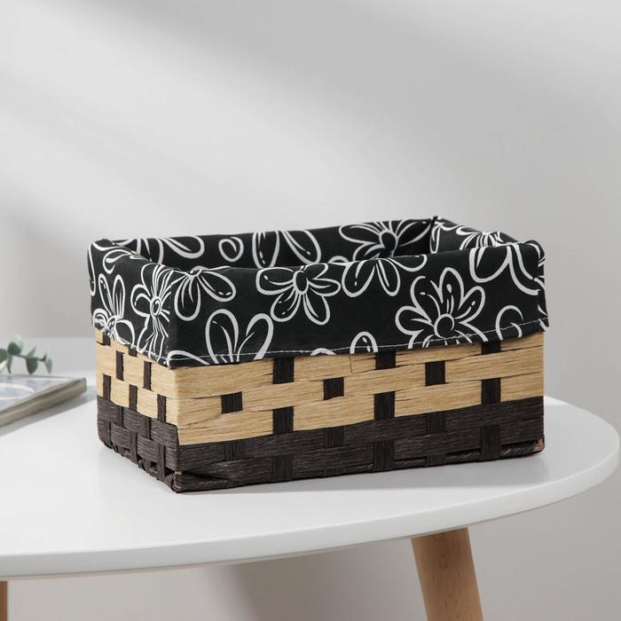 Корзина для хранения плетёная Доляна «Цветок», 23×15×9,5 см