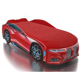 Кровать Romack Boxter-M, подсветка дна и фар, ящик, цветная обшивка матраса, цвет красный