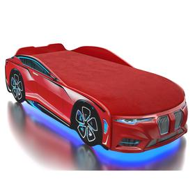 Кровать Romack Boxter-M, цветная обшивка матраса, цвет красный