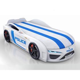 Кровать Romack Dreamer-M полиция, подсветка, ящик, фирменная обшивка матраса, цвет белый