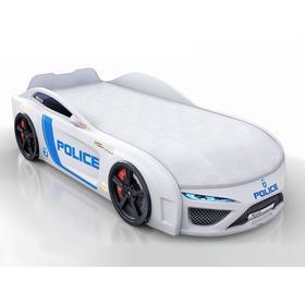 Кровать Romack Dreamer-M полиция, подсветка, ящик, цветная обшивка матраса, цвет белый