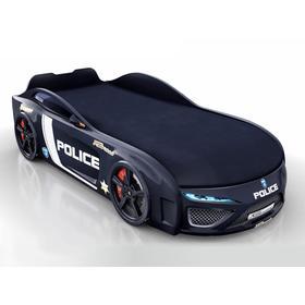 Кровать Romack Dreamer-M полиция, цветная обшивка матраса, цвет чёрный