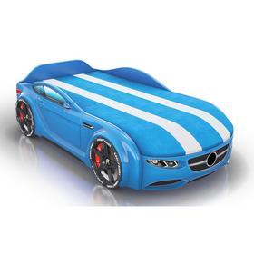 Кровать Romack Junior, ящик, фирменная обшивка матраса, цвет голубой