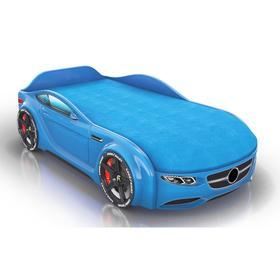 Кровать Romack Junior, ящик, цветная обшивка матраса, цвет голубой