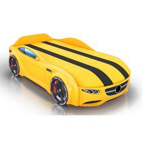 Кровать Romack Junior, ящик, фирменная обшивка матраса, цвет жёлтый