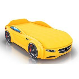 Кровать Romack Junior, ящик, цветная обшивка матраса, цвет жёлтый
