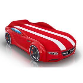 Кровать Romack Junior, ящик, фирменная обшивка матраса, цвет красный
