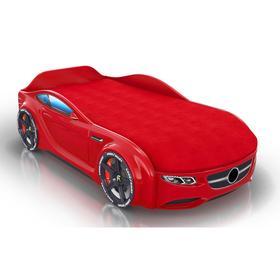 Кровать Romack Junior, ящик, цветная обшивка матраса, цвет красный