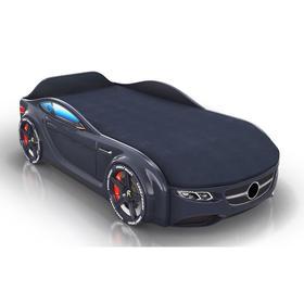 Кровать Romack Junior, цветная обшивка матраса, цвет чёрный
