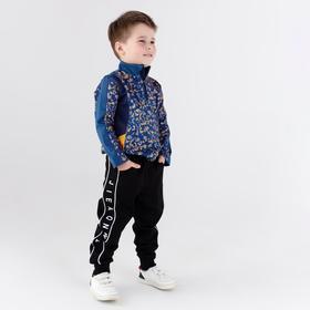 Спортивные брюки детские, цвет чёрный, рост 104 см