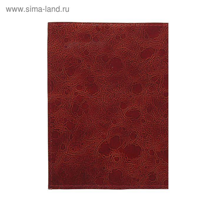 Обложка для паспорта, бордовый вестленд