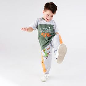 Брюки детские, цвет серый, рост 98-104 см (34)
