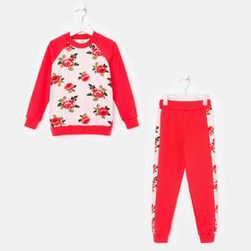 Комплект для девочки, цвет светло-розовый/коралл, рост 98-104 см (34)