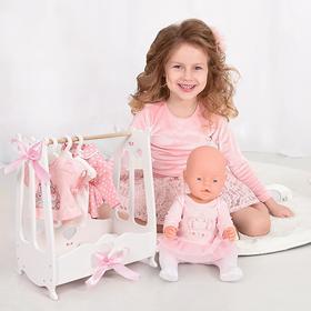 Вешалка для кукольной одежды (шкаф цвет белый) коллекции Diamond Princess