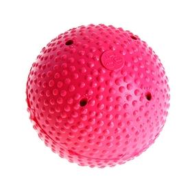 Ball for ice hockey I.V.P, FIB Appr, plastic / wood, crimson color.