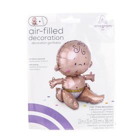 """Шар фольгированный 15"""" «Малыш сидячий», для воздуха, фигура - фото 7502828"""