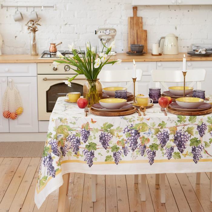 """Набор столовый """"Этель"""" Provence, скатерть 180х150 +/- 3см, салфетки 8 шт - фото 820354"""