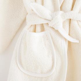 Халат махровый для девочки, рост 110-116 см - фото 7586758