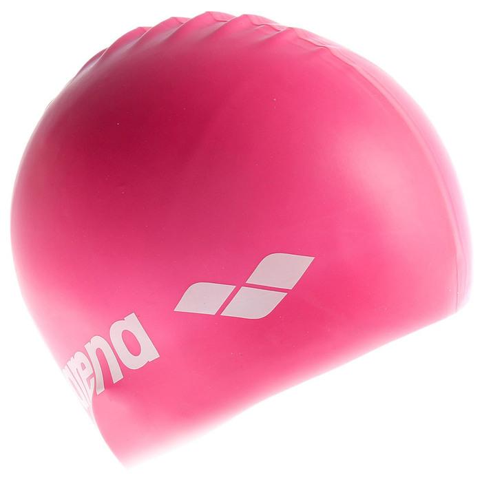 Шапочка для плавания детская ARENA Classic Silicone Jr, цвет ярко-розовый