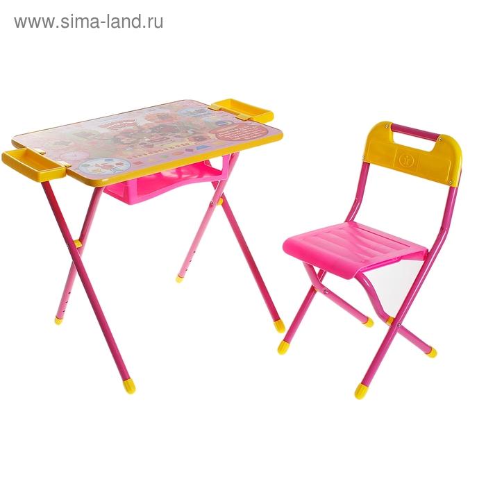 """Набор детской мебели """"Дэми 3. Винни Пух"""" складной, цвет розовый"""