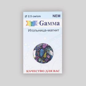 Игольница магнитная «Яркие перья», d = 2,5 см, цвет разноцветный