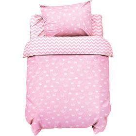 Постельное белье беби «LoveLife» Розовые короны 112*147 см, 60*120+20 см, 40*60 см