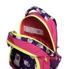 Рюкзак школьный, Luris «Гармония 2», 40 х 28 х 18 см, эргономичная спинка, «Мопс» - фото 820845