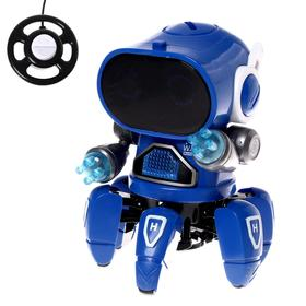 Робот радиоуправляемый «Краб», световые эффекты, работает от батареек, цвета МИКС Ош