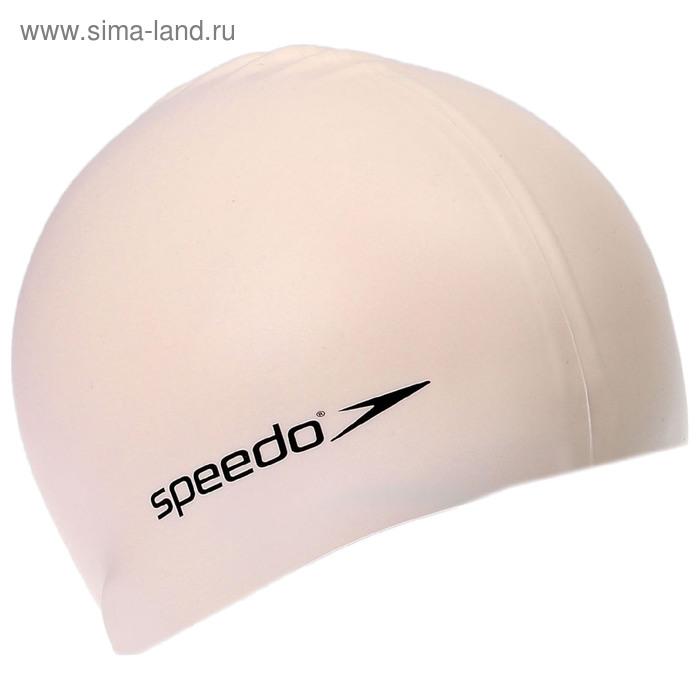 Шапочка для плавания детская SPEEDO Plain Flat Silicone Cap, безразмерная