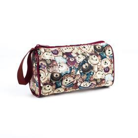 Косметичка-сумочка, отдел на молнии, цвет коричневый, «Медведи» в Донецке
