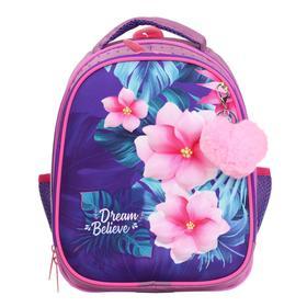 Рюкзак каркасный, Luris «Джерри 4», 38 х 28 х 18 см, 3D-рисунок, «Цветы»