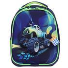 Рюкзак каркасный, Luris «Джерри 4», 38 х 28 х 18 см, 3D-рисунок, «Внедорожник» - фото 821390
