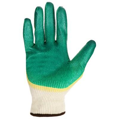 Перчатки х/б трикотажные с латексным покрытием, размер 10