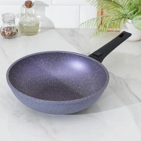 Сковорода WOK CAStA Provenced, d=28 см, съёмная ручка, фиолетовый гранит