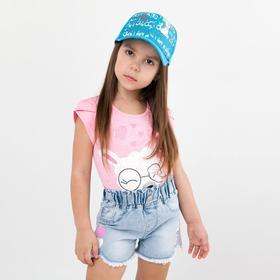 Шорты джинсовые для девочки, цвет голубой, рост 104 см