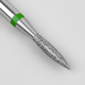 Фреза алмазная для маникюра «Пламя», крупная зернистость, 1,8 × 8 мм