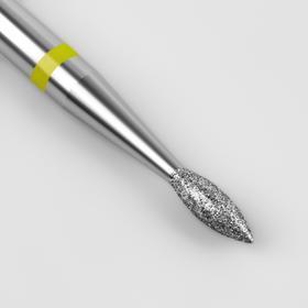 Фреза алмазная для маникюра «Пламя широкое», мелкая зернистость, 1,6 × 4,5 мм