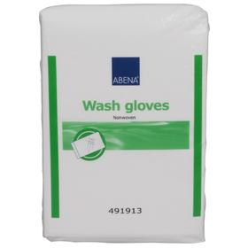 ABENA Wash Gloves Nonwoven Wash Mittens 16x23 cm, 50 pcs