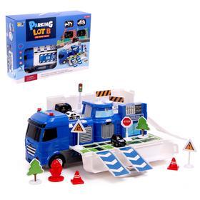 Парковка-трансформер «Полицейский участок», с машинками, свет