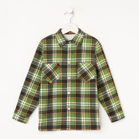 Рубашка детская, цвет зелёный, рост 98-104 см