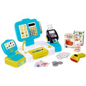 Детская электронная касса Smoby с весами, 27 аксессуаров