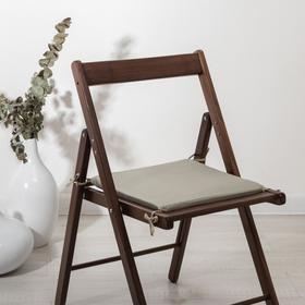 Сидушка на стул «Бамбук», светло-серый, 34х34х1,5 см
