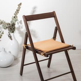 Сидушка на стул «Бамбук», персик 34х34х1,5 см