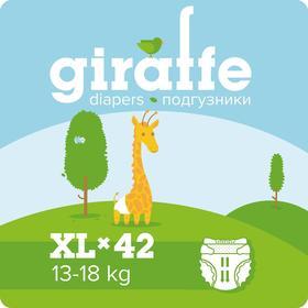 Подгузники «Lovular» Giraffe, 13-18кг, 42шт/уп