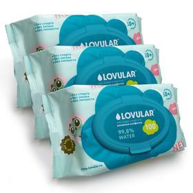 Салфетки влажные«Lovular» swet kiss, 3х100 шт